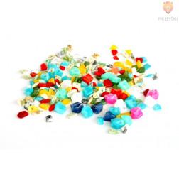 Perle akrilne mix 4, različnih oblik in barv, 50g