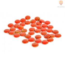Perle akrilne mix 53, rdeči mix okrogle ploščate oblike 50g