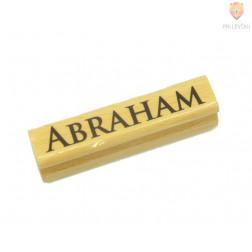 """Lesena štampiljka """"Abraham""""  1 kos"""