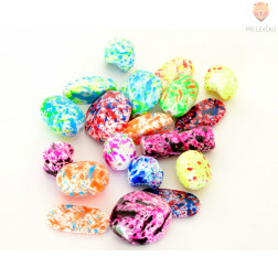Akrilne perle - Fluo z malo luknjo 50g