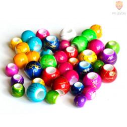 Akrilne perle z veliko luknjo 30g