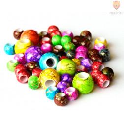 Akrilne perle batik z veliko luknjo 30g