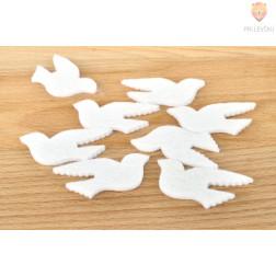 Okraski iz filca - golobčki 8 kosov