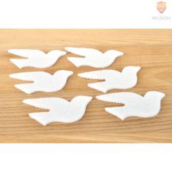 Okraski iz filca - golobčki 6 kosov