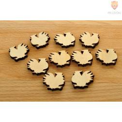 Leseni okraski - petelinčki 10 kosov