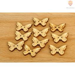 Leseni okraski - metuljčki 10 kosov