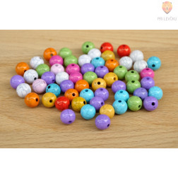 Perle akrilne mix ELDORADO 10mm 50g