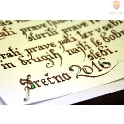 Set za zlatenje napisov - kaligrafski