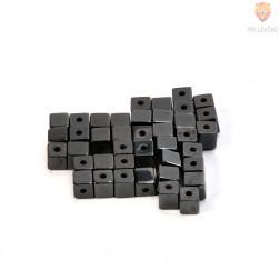Perle magnetne 4x4x4mm črne barve 40/1