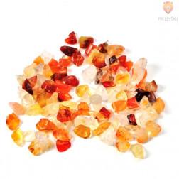 Perle poldragi kamni - lomljenci, karneol 18g