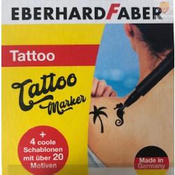 Komplet flomastrov za tatuje s šablonami