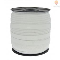 Elastika ploščata rašel bele barve 15mmx1m