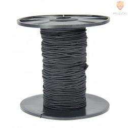 Elastika okrogla 1,5mmx50m črna