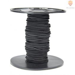 Elastika okrogla 2mmx25m črna