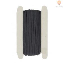 Elastika ploščata 4mm 25m črna