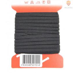 Elastika ploščata rašel črne barve 4mmx5m