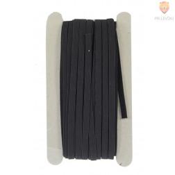 Elastika ploščata 6mmx25m črna
