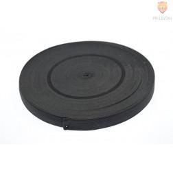 Elastika ploščata črne barve 2cmx2m