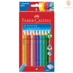 Debele akvarelne barvice Jumbo Grip Faber- Castell 12/1 in šilček
