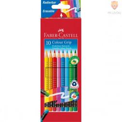 Barvice Faber-Castell Grip z radirko 10 kosov