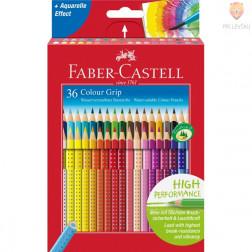 Akvarelne barvice Faber-Castell Grip 36 kosov