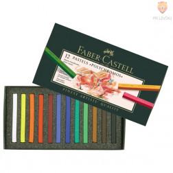 Suhi pasteli POLYCHROMOS Faber-Castell 12 kosov