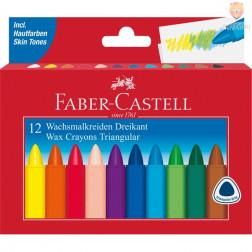 Voščenke Grip trikotne Faber-Castell 12 kosov