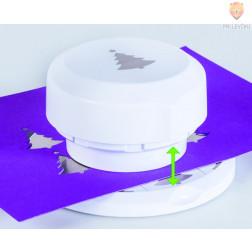 Flexi magnetni luknjač za papir Smrečica z zvezdico premera cca 4 cm