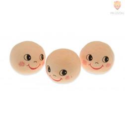 Vatne kroglice z obrazom kožne barve 2,5cm 3 kos