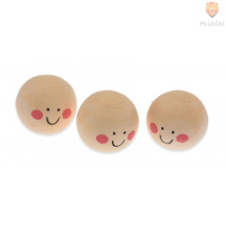 Vatne kroglice z obrazom kožne barve 3cm 3 kosi