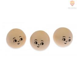 Vatne kroglice z izrazitejšim obrazom kožne barve 2,5cm 3 kosi