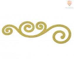 Izrezane nalepke Ornamenti bleščeče zlate barve 25 kosov