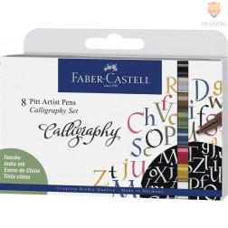 Kaligrafski komplet 8/1 Pitt Artist Pen Faber-Castell