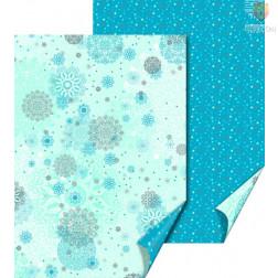 Karton z motivi Snežne rozete svetlo modra 50x70cm 300g/m2 1 kos