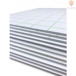 Kaširana plošča samolepilna 5mm bele barve