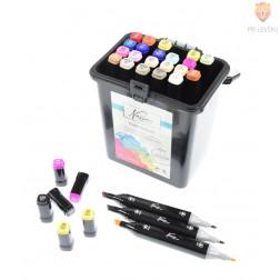 Komplet dizajnerskih markerjev z dvojno konico Art sensations 24 kosov