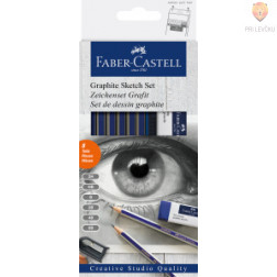 Set grafitnih svinčnikov za risanje in senčenje 8 kosov Faber-Castell