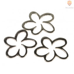Kovinski dodatki za nakit - roža, 3 kos