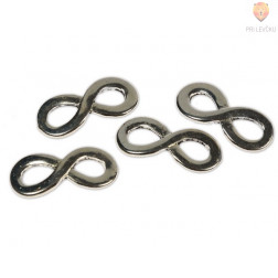 Kovinski dodatki za nakit - neskončnost, 4 kos