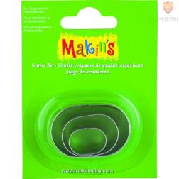Kovinski modelčki za izrezovanje 3 kosi 3 različne velikosti Oval