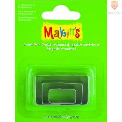 Kovinski modelčki za izrezovanje 3 kosi 3 različne velikosti Pravokotnik