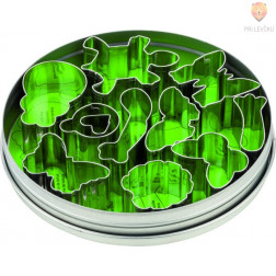 Set kovinski modelčki za izrezovanje Metulj, Žabica in Pikapolonica 11 kosov