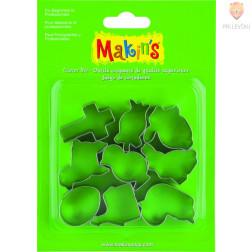 Set kovinski modelčki za izrezovanje Velikonočni motivi 9 kosov