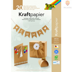 Kraft papir in karton v asortimentu format A4 120 in 230 g/m2 20 listov