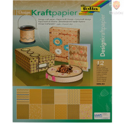 Design papir Craftpaper v bloku A4 12 listov