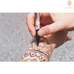 Šablone za izdelavo tatujev - sonce, rože, metulji