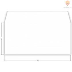 Kuverta bela 11x23cm 80g 1 kos