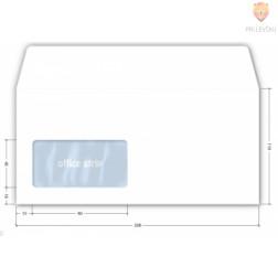 Kuverta bela 11x23cm levo okno 80g 1 kos