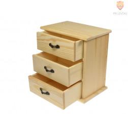 Leseni predalnik 17,5x16x10,5cm 1 kos