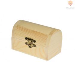 Lesena škatlica gusarska skrinja, 9,5 x 5,5 x 6 cm, 1 kos